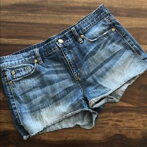 J Crew Distressed Denim Jean Shorts